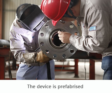 The device is prefabrised