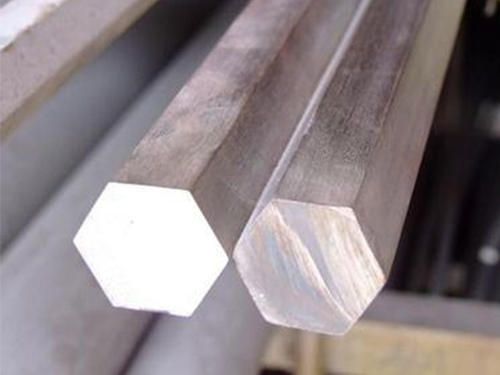 Stainless steel precision hexagonal rod.