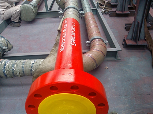 Pipe sinks, pipe segment prefabrised.