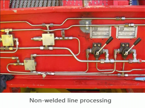 Non-welded line processing.